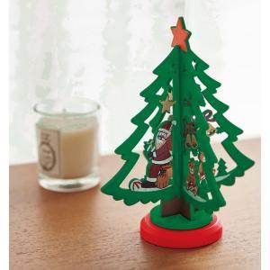 クリスマスツリー 木製ミニクリスマスツリー 72個販売まとめ売り 簡単組み立てツリー  lucky-merci