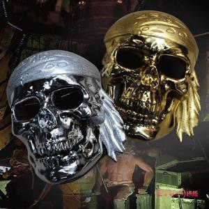 マスク コスプレ 衣装 過激 仮面 変装 お面コスチューム 小物 パーティ用 イベント 海賊 骸骨 a030|lucky9