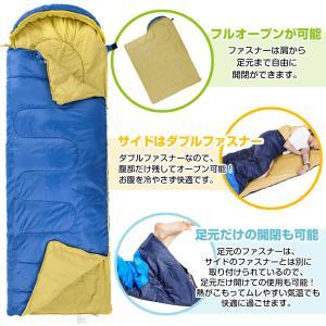 寝袋 シュラフ 冬用 封筒型 1.95kg コ...の詳細画像4
