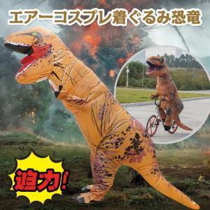 エアコス 恐竜 ハロウィン コスプレ 衣装 おもしろコスプレ おもしろコスチューム 空気 膨らむ 着ぐるみ 仮装 パーティ pa089|lucky9
