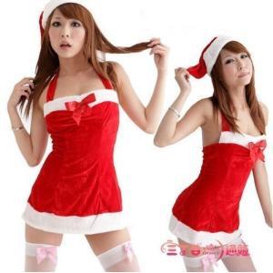サンタ コスプレ サンタクロース コスチューム セクシー衣装 クリスマス 帽子付き セクシータイトミニ sd009|lucky9