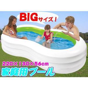 プール ビニールプール 家庭用 ファミリープール 大型 2.3M 3気室 ###プール0190-1NPF###|luckycraft-sp