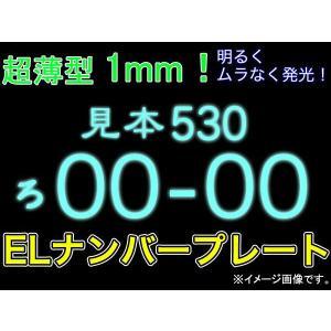 EL字光式ナンバー2枚組/防水/極薄/12V車用 ###ELナンバーCP-PK###|luckycraft-sp