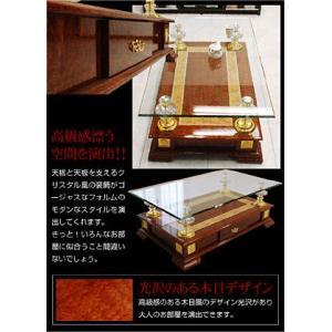 高級センターテーブル ガラステーブル CT-A57-ART|luckykagu|03