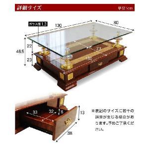 高級センターテーブル ガラステーブル CT-A57-ART|luckykagu|04