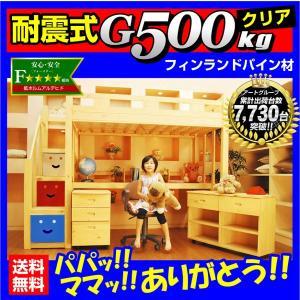 耐荷重500kg レビューで1年補償 システムベッド デニム3(本体のみ)-ART ロフトベッド激安木製子供