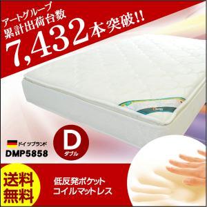 低反発ポケットコイルマットレスDMP-5858-ART ダブル