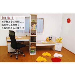 学習机 勉強机 ツインデスク 学習デスク アーバン (TDV-505)-ART (学習椅子ラッキー付) luckykagu 02
