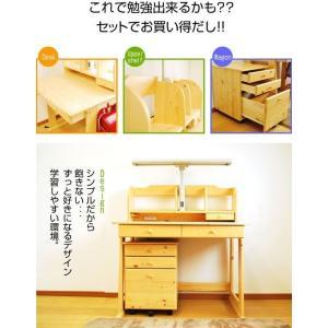 学習机 勉強机 学習デスク ヒット 3点セット(T型LEDデスクライト+椅子付き)-KW-733-ART 2015|luckykagu|02