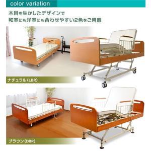 レビューで1年補償 電動ベッド 介護ベッド 電動 リクライニング 電動3モーターベッド てがる(サイドテーブル付き)-ART 開梱設置付き|luckykagu|05