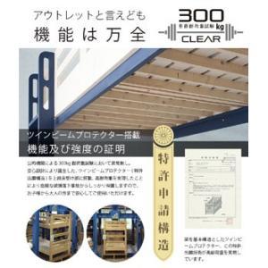 耐荷重500kg 二段ベッド 2段ベッド 宮付...の詳細画像1