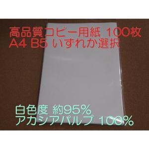 コピー用紙 高品質コピー用紙 A4 B5 100枚 いずれか選択 白色度 約95% アカシアパルプ 100% ペーパーワン Copy&Laser後継 ポイント消化 luckytail