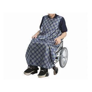 特殊衣料 食事前掛(超撥水) 車椅子用 /1050 和柄うさぎ(うぐいす)