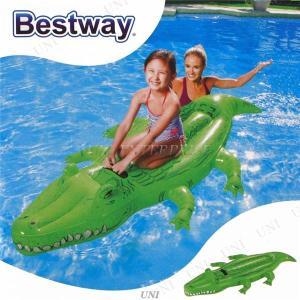 ワニ型 フロート/浮き輪 〔縦約196cm×横約100cm×高さ約24cm〕 ポリ塩化ビニル Crocodile Rider 〔プール ビーチ〕|luckytail