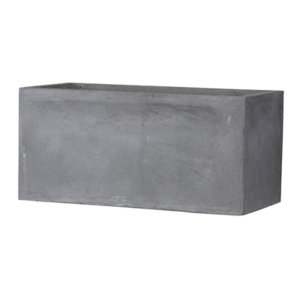 【商品名】 ファイバークレイ製 軽量 大型植木鉢 バスク プランター 60cm グレー