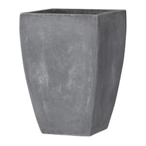 【商品名】 ファイバークレイ製 軽量 大型植木鉢 バスク スクエアー 35cm グレー