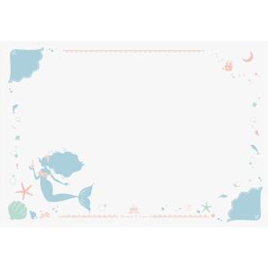 プリント学習デスクマット 〔マーメイド〕 幅65cm×奥行45cm 日本製 軟質塩ビ製 〔リビング ...