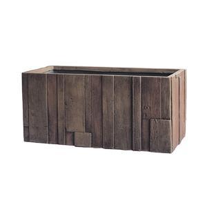 【商品名】 ファイバークレイ製 軽量 大型植木鉢 パターン プランター アンティークウッド 80cm