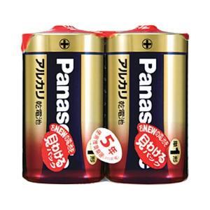 【商品名】 (まとめ)パナソニック アルカリ乾電池 単1形 1パック(2本)【×10セット】
