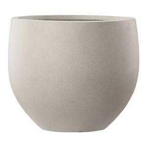 【商品名】 ファイバーセメント製 軽量植木鉢 エルム エッグ ベージュ 40cm 大型植木鉢