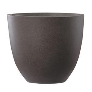 【商品名】 ファイバーセメント製 軽量植木鉢 エルム ラウンド ブラウン 42cm 大型植木鉢