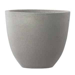 【商品名】 ファイバーセメント製 軽量植木鉢 スタウト アッシュラウンド 42cm 大型植木鉢