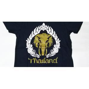 タイ  象 デザイン Tシャツ luckytail