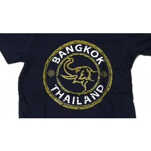 タイ  バンコク 象 デザイン Tシャツ luckytail