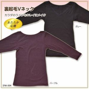 送料無料 カラダのラインをキレイにメイク 裏起毛Vネックシャツ ZFM-04|ludas