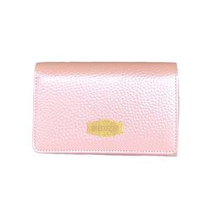 日本製 レディース 財布/メタリックシュリンク 二つ折り財布