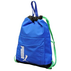 プーマ ナップサック 14.5L Puma アクティブ ジムサック 巾着バッグ サブバッグ フロントポケット付き 通学 部活 体操服入れ 075348|luggagemarket