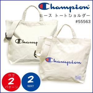 チャンピオン トートショルダー Champion ヒース 2way ロゴプリント コットントート A4 55563|luggagemarket