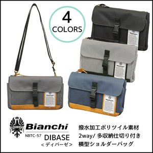 ☆コーディネートしやすいツイル地で機能性の高いポケットを装備したBianchiの2wayショルダー。...