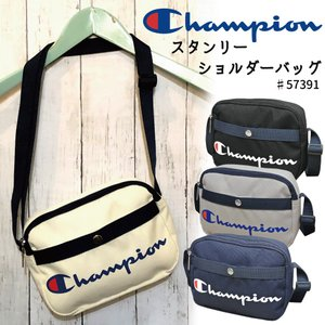 e2cba7f90895 チャンピオン ショルダーバッグ 横型 Champion スタンリー 斜め掛けバッグ マチあり コンパクトショルダー スクリプトロゴプリント57391
