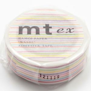 商品名   カモ井加工紙 mt ex 色えんぴつ・ボーダー 15mm幅×10m巻き MTEX1P7...