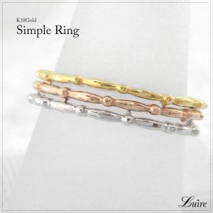 指輪 レディース エタニティリング 18金 k18ゴールド フルエタニティリング 地金 シンプル ミディリング ファランジリング 誕生日 記念日 プレゼント 指輪|luire-jewelry