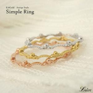 指輪 レディース エタニティリング 18金 k18ゴールド フルエタニティリング地金  ミディリングファランジリング 誕生日 記念日 プレゼント 指輪|luire-jewelry