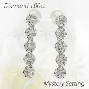 ピアス ゴールド 18k ダイヤモンド ロング セブンスター ストレート 18金|luire-jewelry