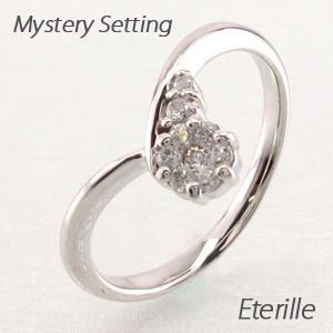 リング 指輪 レディース ゴールド 18k ダイヤモンド V字 Vライン 18金 K18 WG luire-jewelry