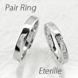 ペアリング プラチナ 900 ダイヤモンド 指輪 マリッジリング 結婚指輪 luire-jewelry
