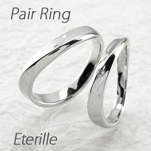 ペアリング プラチナ 900 ダイヤモンド 指輪 結婚指輪 マリッジリング ウェーブ luire-jewelry