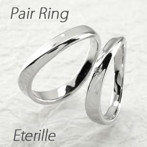 ペアリング ゴールド 18k ダイヤモンド 指輪 結婚指輪 マリッジリング ウェーブ K18 luire-jewelry