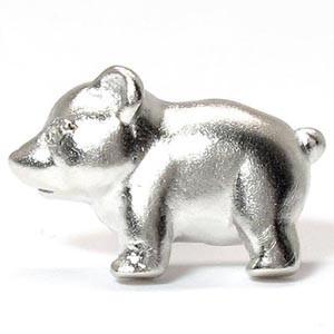 ラペルピン メンズ タイピン タイホルダー クマ 熊 アニマル 地金 ゴールド 18k ダイヤモンド|luire-jewelry