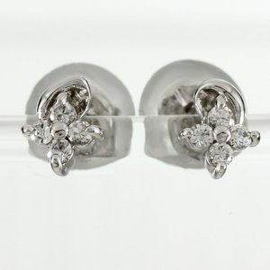 ピアス ダイヤモンド ゴールド フラワー 花 シンプル ダイヤピアス 10k K10 10金 luire-jewelry