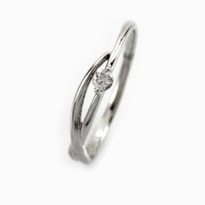 ダイヤモンド リング 一粒 指輪 ゴールド 華奢 ダイヤリング 10金 10k K10 luire-jewelry