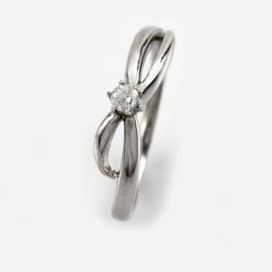 ダイヤモンド リング 一粒 指輪 ゴールド 華奢 ダイヤリング 10金 10k K10