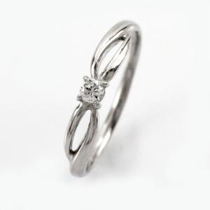 ダイヤモンド リング 一粒 指輪 プラチナ 900 華奢 ダイヤリング luire-jewelry
