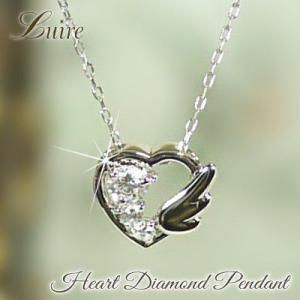 ネックレス k18ゴールド ハート プチ ネックレス k18 天然ダイヤモンド  誕生日 プレゼント luire-jewelry