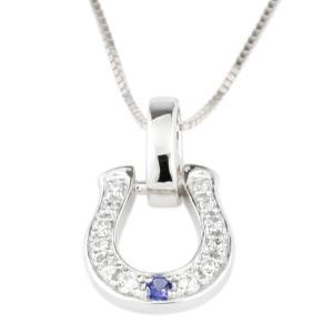 ネックレス レディース 馬蹄タンザナイト 12月誕生石 プラチナ ダイヤモンド PT900  ホースシュー ラッキーモチーフ お守り 人気|luire-jewelry