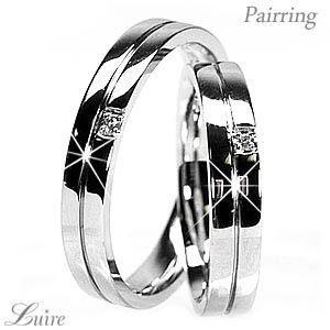 リング プラチナ900 ペアリング 天然ダイヤンモンド 結婚指輪 Pt900 マリッジリング|luire-jewelry